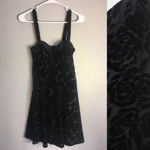 Abercrombie & Fitch Black Dress w/ Velvet Flowers